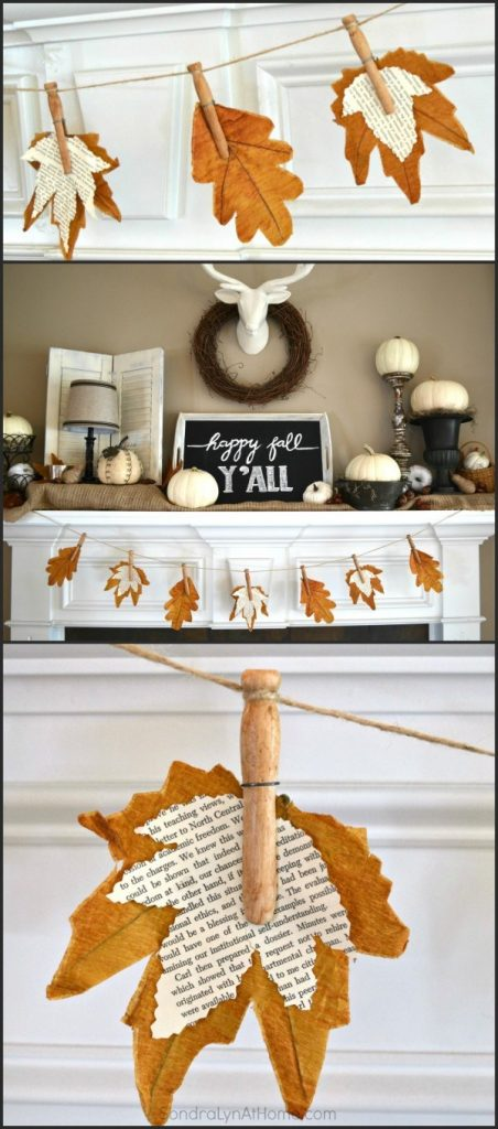 Diy fall mantel decor ideas to inspire for Homemade fall decorations for home