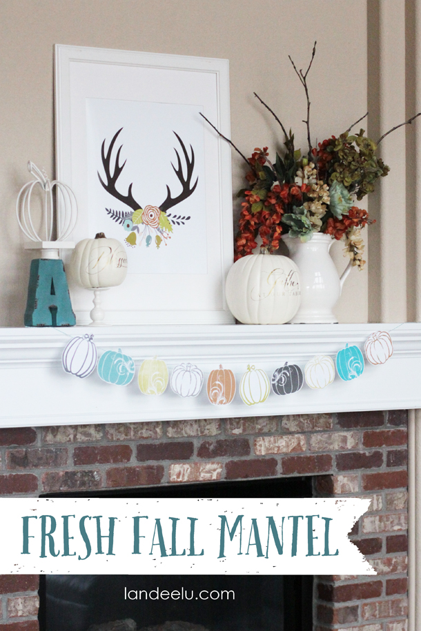diy fall mantel decor ideas to inspire. Black Bedroom Furniture Sets. Home Design Ideas