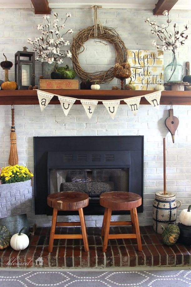Diy Fall Mantel Decor Ideas To Inspire Landeelu Com