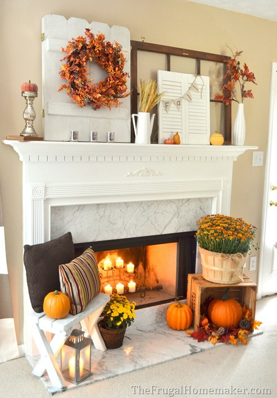 ... Do It Yourself Layered And Non Centered Fall Mantel Inspiration Home  Decor Ideas For Autumn