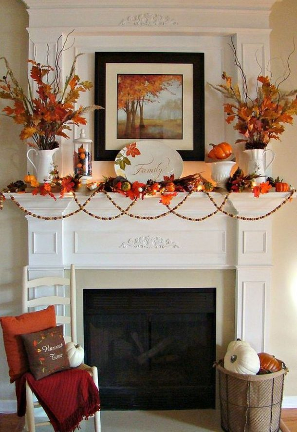 Diy fall mantel decor ideas to inspire - Fall decorations for home ...