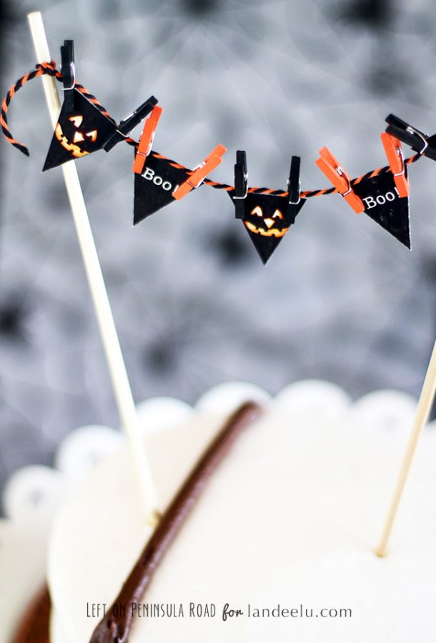 Printable Halloween Party Cake Topper... such a cute way to add a Halloween touch to any cake!