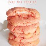 Strawberry Cream Cheese Cake Mix Cookies