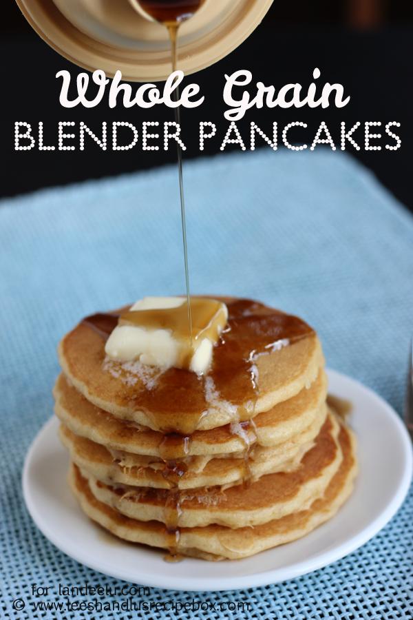 Whole Grain Blender Pancakes (5) LandeeLu