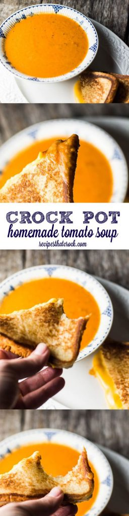 This easy Crock Pot Tomato Soup Recipe is a simple way to make a flavorful homemade tomato soup right at home!   Recipes that Crock!