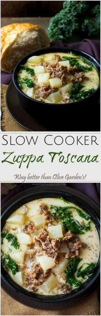 Crockpot soup recipes perfect for fall - Olive garden zuppa toscana crock pot ...