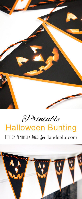 Printable Jack-o'-lantern Halloween Bunting
