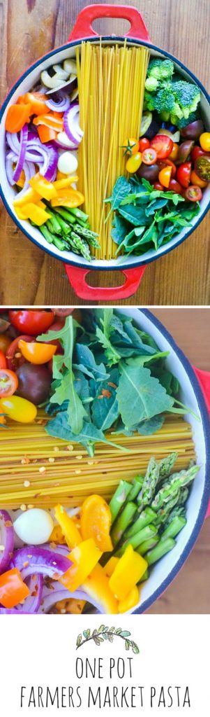 One Pot Farmer's Market Pasta Recipe | The View from Great Island