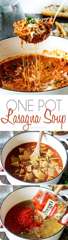 One Pot Lasagna Soup Recipe | Carlsbad Cravings