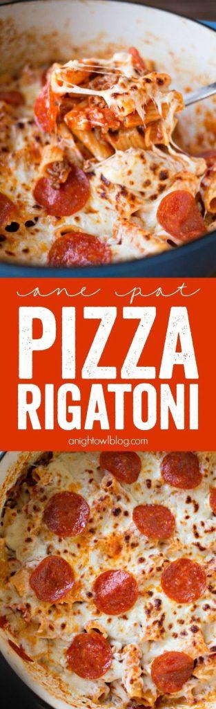 One Pot Pizza Rigatoni Recipe | A Night Owl Blog - The Best Easy One Pot Pasta Family Dinner Recipes