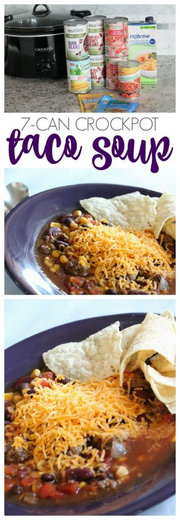 EASY 7-Can Crockpot Taco Soup Recipe   Passion for Savings