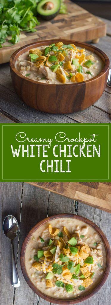 Creamy Crockpot White Chicken Chili Recipe | Lovely Little Kitchen