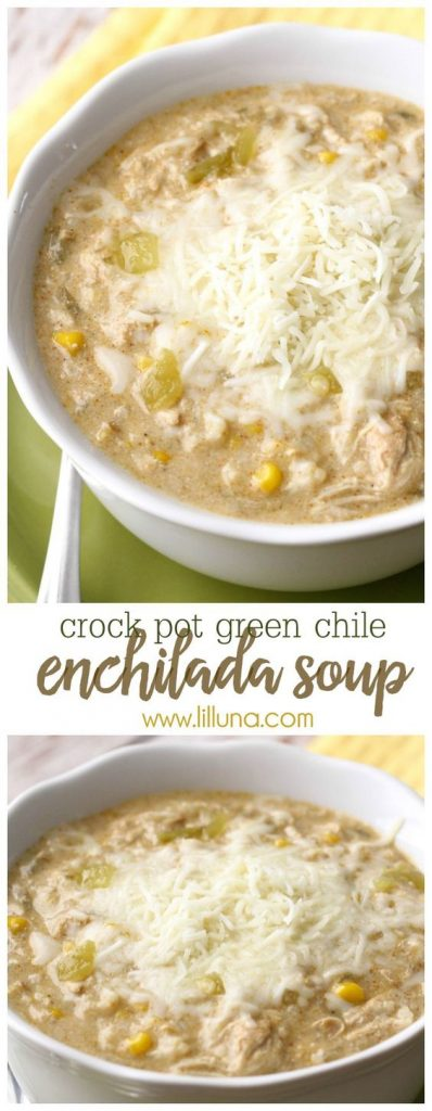 Crock Pot Green Chile Enchilada Soup Recipe | lil' luna