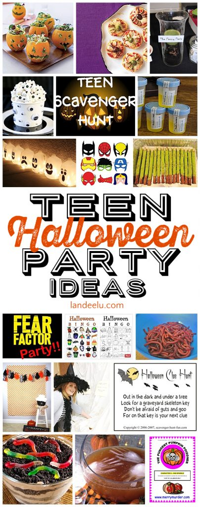 Teen Halloween Party Ideas – Fear Factor Party Invitations