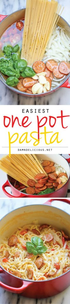 The easiest, most amazing pasta you will ever make. Even the pasta gets cooked right in the pot. How easy is that?! | Damn Delicious