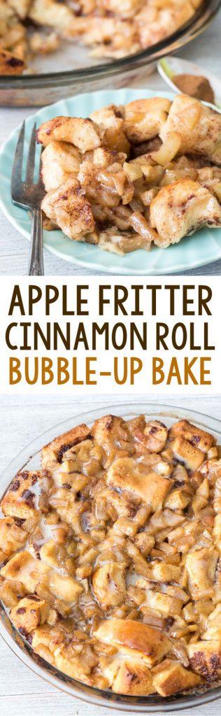 Apple Fritter Cinnamon Roll Bubble-Up Bake Dessert Recipe | Crazy for Crust - Apple Recipes