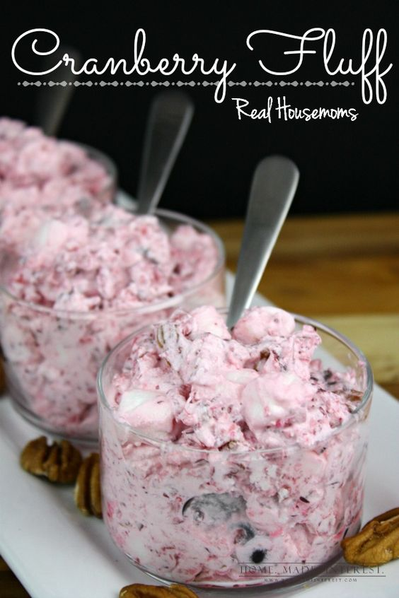 Cranberry Fluff Salad - the perfect holiday menu recipe! | Real Housemoms
