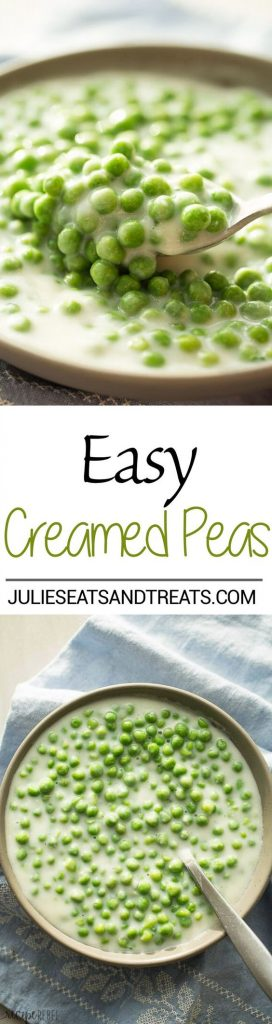 Easy Creamed Peas Side Dish Recipe | Julie's Eats & Treats