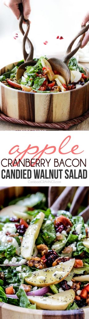 Apple Cranberry Bacon Candied Walnut Salad with Apple Poppy Seed ...