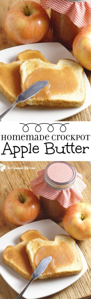 Homemade Crockpot Apple Butter Recipe | The Gracious Wife - Apple Recipes