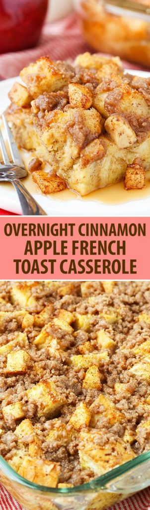 Overnight Cinnamon Apple Baked French Toast Casserole Recipe | Life Love and Sugar - Apple Recipes