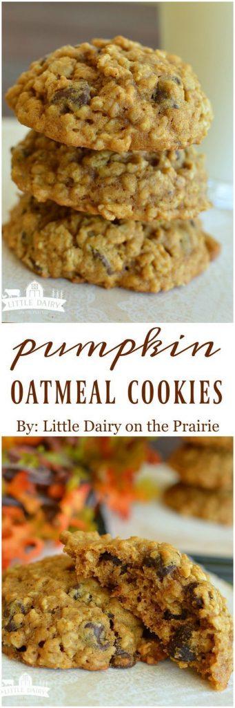 Pumpkin Oatmeal Cookies Recipe | Little Dairy On the Prairie