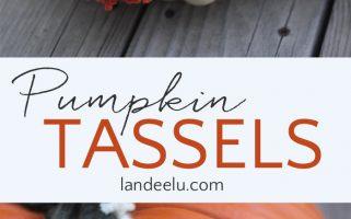 Add a fun detail to your pumpkins with DIY yarn tassels!