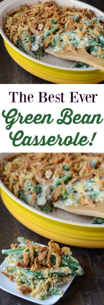 The Best Ever Green Bean Casserole Holiday Dinner Side Dish Recipe | The Novice Chef