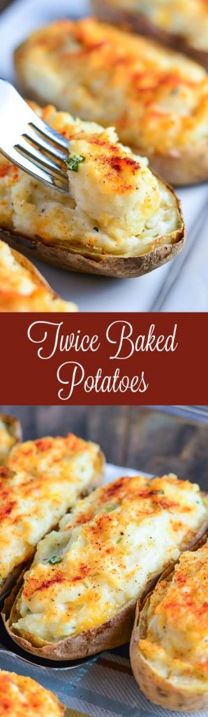 Twice Baked Potatoes Holiday Side Dish Recipe | Garnish & Glaze