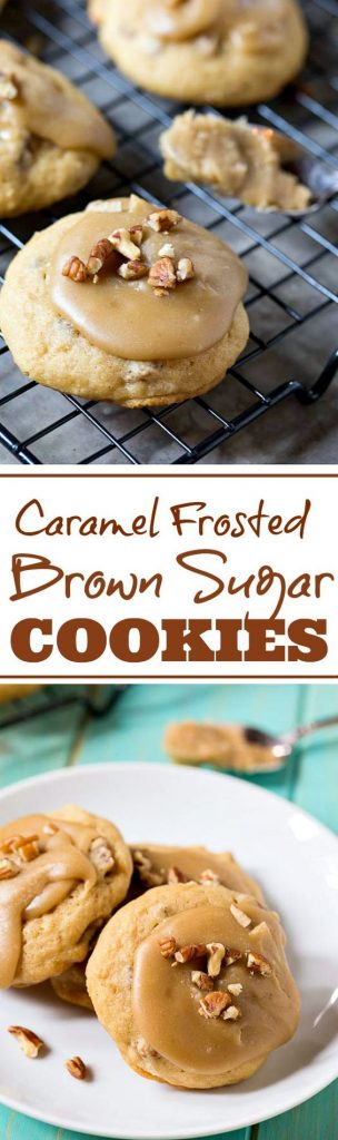 Caramel Frosted Brown Sugar Cookies Recipe   Spicy Southern Kitchen