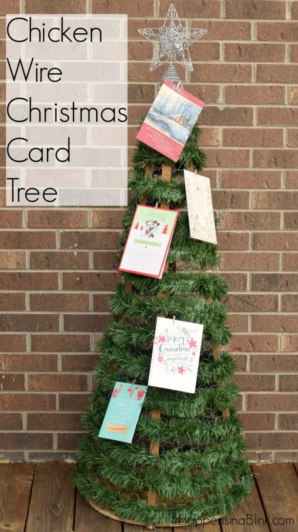 DIY Chicken Wire Christmas Card