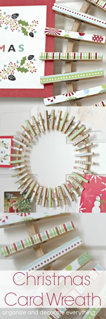 Nice Easy Framed DIY Christmas Card Holder With Lights | Reasons To Skip The  Housework