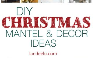 Lots of beautiful DIY Christmas decor and mantel ideas!