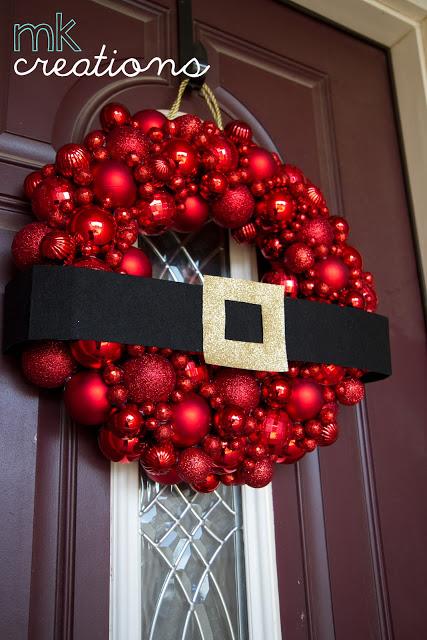 Santa! This is a FUN one for sure. DIY Santa Belt Ornaments Wreath Tutorial   Mally Kally Creations