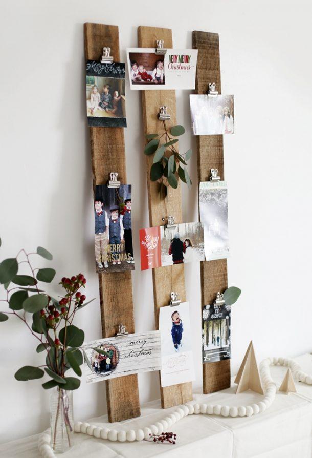 Diy christmas card holder and display ideas - Christmas card display ideas ...