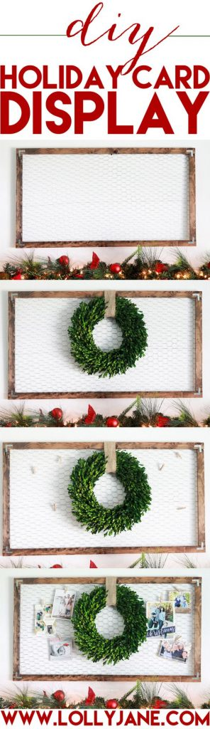 DIY Holiday Card Display SO