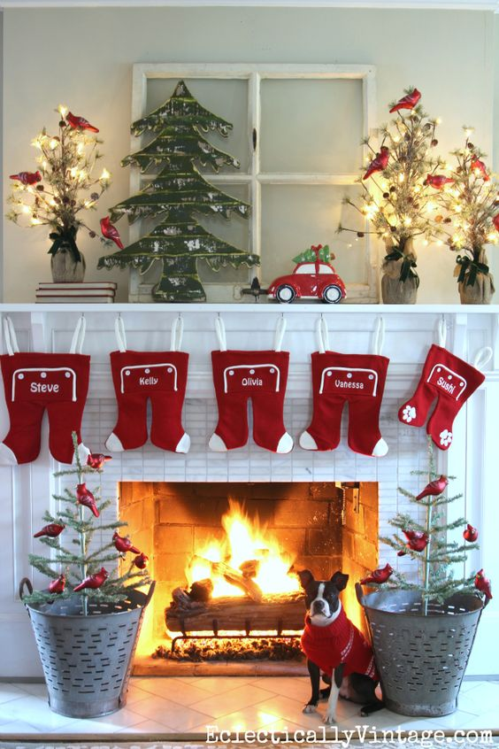 Christmas Mantle Decorating Ideas Part - 16: DIY Fur Letters Christmas Mantel Decorations Tutorial | Place Of My Taste