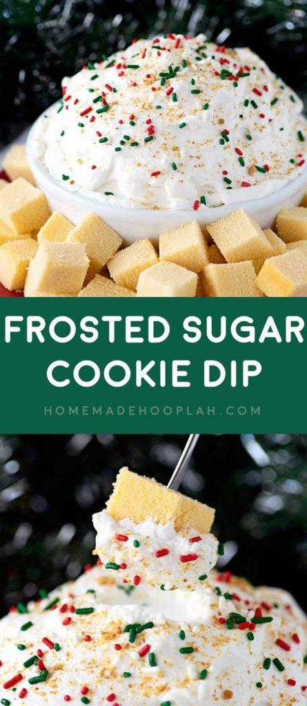 Frosted Sugar Cookie Dessert Dip Recipe   Homemade Hooplah