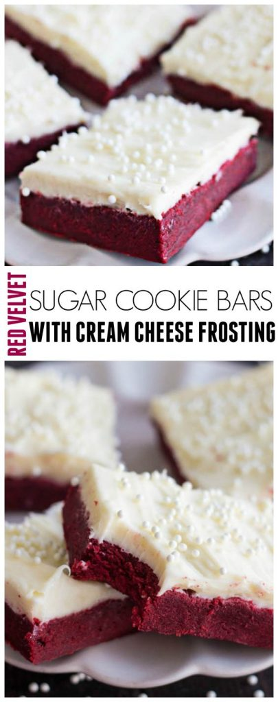 Red Velvet Sugar Cookie Bars with Cream Cheese Frosting   The Recipe Critic