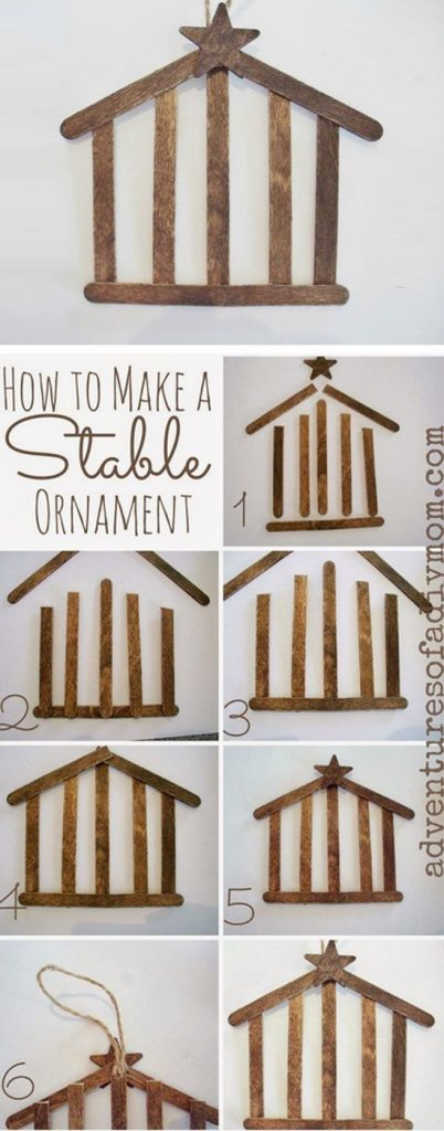 Diy christmas tree ornaments to make page 3 of 3 for Easy christmas crafts for kids religious