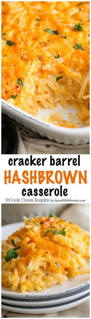 Copy Cat Cracker Barrel Hashbrown Breakfast Casserole Recipe | Spend ...