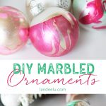 DIY Ornaments: Marbled Dipped Awesomeness