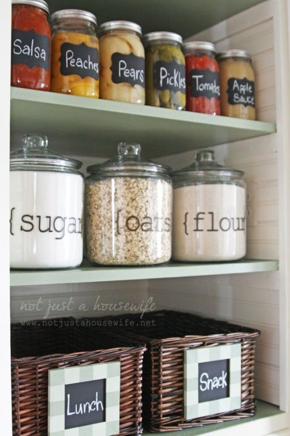 LOVE the look of these cute chalkboard labels for quick reference! | Not Just a Housewife
