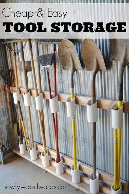 Awesome diy garage organization ideas for Diy garden tool storage