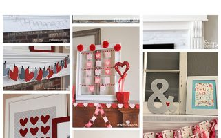 Valentine's Day Decor... put some love up on those mantels! Such cute ideas!