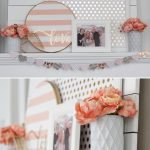 Valentine's Day Decor: Pink and Gold Mantel