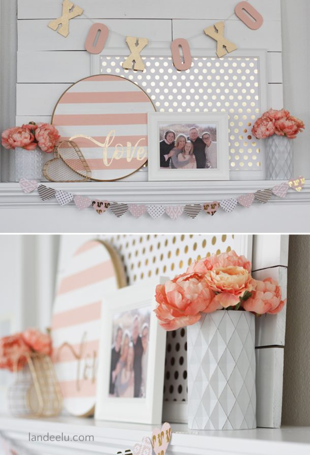 http://www.landeeseelandeedo.com/wp-content/uploads/2017/02/Valentines-Day-Decor-Pink-and-Gold-Mantel.jpg