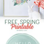 Hello Spring! Free Spring Printable
