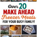 Make Ahead Freezer Meals Recipes for Your Busy Family!