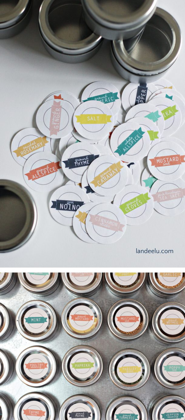These spice labels are so cute! Love the colors!